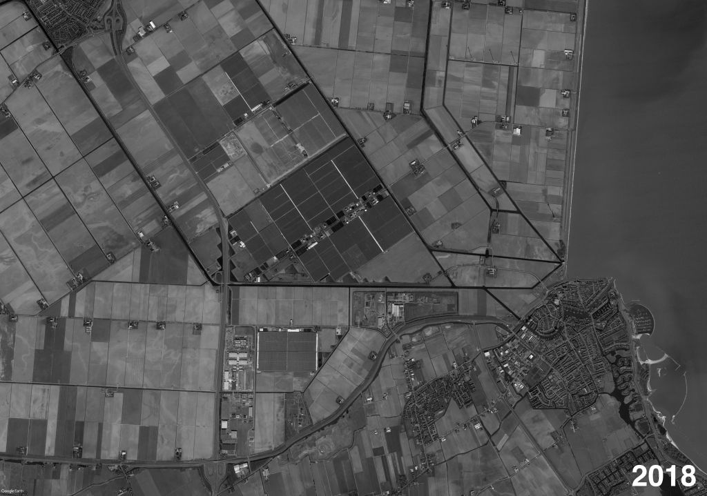 If we now go back to the plot of Mansholt—just around the corner of Agriport A7—history seems to have repeated itself, but then with rather different tools, objectives and spatial outcomes.