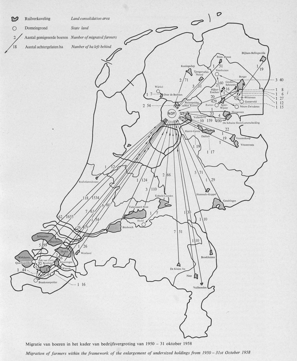 Other farmers were given the opportunity to relocate their businesses to recently reclaimed polders, establishing new, larger farms.