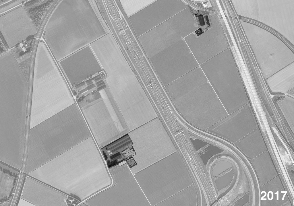 Marc Havermans acquired the land on the other side of the road, including the dairy farm, which he now operates remotely with the help of robots. Except for the incremental increasing size of barns, the spatial implications of these changes seem to be limited. Yet, the invisible land ownership has altered substantially.